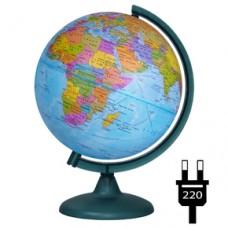 Глобус Политический 250мм с подсветкой 10164 Глобусный мир