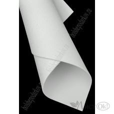 Фоамиран глиттерный лист А4 2мм перламутровый белый №006 807-126
