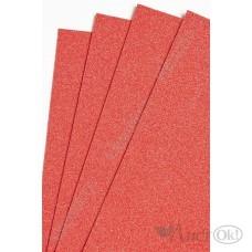 Фоамиран глиттерный лист А4 2мм красный №009 807-108