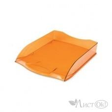 Лоток для бумаг горизонтальный 340х280х70 оранжевый тонированный ML_34009 Hatber