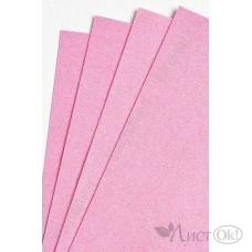 Фоамиран глиттерный лист А4 2мм розовый №004 807-124