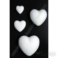 Заготовка из пенопласта Сердце объемное 5 см 450-18