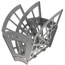 Лоток для бумаг -веер вертик./гориз.3 секции, 2 отделения, «Эконом», серый ЛТ411 Стамм