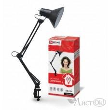 Светильник настольный IN HOME под лампу на струбцине 60Вт E27 черный СНС-13Ч