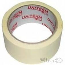 Клейкая лента малярная 50*40 Э (18м) 125-130мкм ЧЕЛ02204 (01643) Uniterm