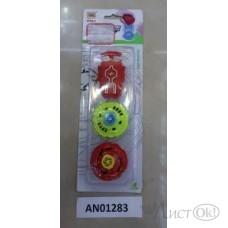 Волчок в наборе 2шт (30х10,5 см) с запуском, на планшете AN01283 Рыжий кот