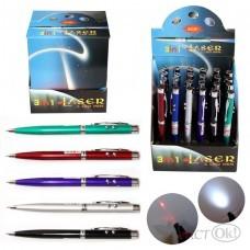 Лазерная указка +фонарик+ручка поворотный механизм, 13.5см, алюминий 4334 J.Otten