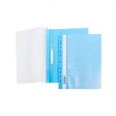 Папка-скоросш. 140/180мкм  А4 прозр. верх. лист Голубая с перфорацией прозр. верх с един.штрих-кодом AS4_00210 Hatber