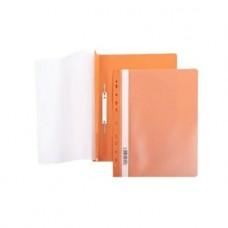 Папка-скоросш. 140/180мкм  А4 прозр. верх. лист Оранжевая  с перфорацией прозр. верх с един.штрих-кодом AS4_00216 Hatber