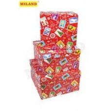 Коробка подарочная квадратная 19,5*19,5*11см