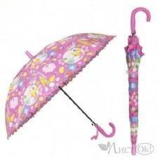 Зонт -трость 50 см купол пестрый рисонок, 6 видов (+свисток) AN01191 Рыжий кот