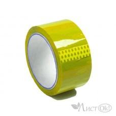 Клейкая лента 48*60 , упаковочный желтый, 43 мк 48ЖПБ302956 Логард
