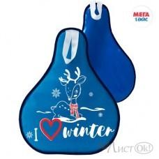 Ледянка мягкая с принтом 52*42см цвет: голубой МТ13717 Мега Тойс