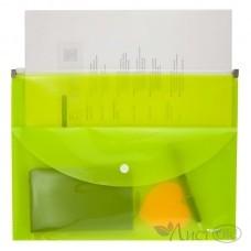 Папка-конверт zip-lock, 2 отделения, A4, желтая 1430-08-A Axent