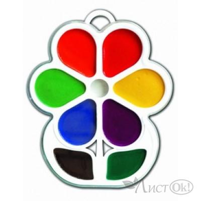 Краска акварельная 8цв. Цветочек б/к, 18с  1183-08 Луч