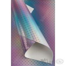 Кожзам голографик c переходом цвета