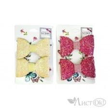 Набор из 2 заколок для волос зажим, Бант блестящая крошка Т18450 Lukky Fashion