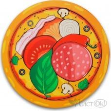 Игрушка деревянная Вкладыш пицца 101106 Сибирские игрушки