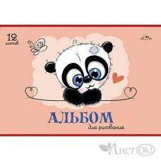 Альбом для рис. 12л. А4 обл-мел. картон., блок-офсет 100 гр/ м2