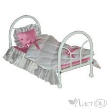 Кроватка кукольная 31*53*31 см КР-110 Стройтехсервис