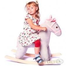 Лошадь -качалка (серо розовая)) (Серый; Серый) см-793-13-с Нижегородская игрушка