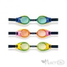 Спорт Очки для плавания Junior Goggles, 3 цвета 3-8 лет И55601 INTEX