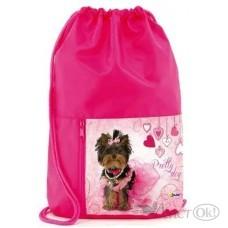 Мешок для обуви 2отд.+ карман Pretty dog МО-23 (53978) Оникс