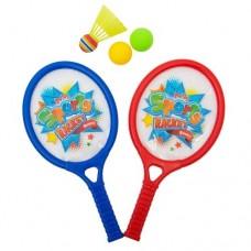 Бадминтон детский (2 ракетки, мяч 2 шт, воланчик пластиковый)  в пакете S063 Tongde