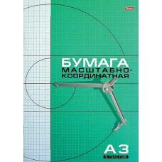 Бумага миллим. А3 8л Голубая сетка/Рыжая сетка 8Бм3_02285, 03410 Хатбер