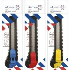 Нож канцелярский 18мм Attomex блист. металл.направляющие 4090301 deVente