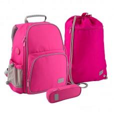 Комплект Рюкзак + пенал + сумка для обуви K 702 розовы, БУТЫЛОЧКА SET_K19-720S-1 Kite