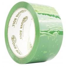 Клейкая лента 48*66 зеленый 43мкм 0120-439Х Нова Ролл