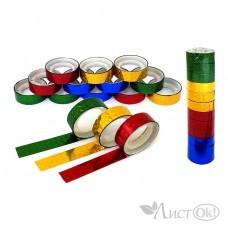 Клейкая лента голография 1.2СМх3М, цвет ассорти, пвх J.Otten