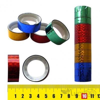 Клейкая лента голография 1.5СМх3М, цвет ассорти, пвх J.Otten