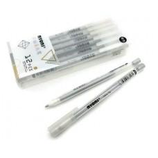 Ручка гелевая серебряная 0,8мм для черной и белой бумаги, прозрачный корпус, в упаковке ПВХ CI-143 (8209) Nyoni
