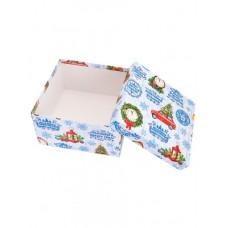 Коробка подарочная квадратная 17,5*17,5*10см