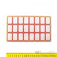 Ценники 202 красные 25х38мм,24шт на листе,80 листов,самокл.,цена за 1 уп. J.O. /
