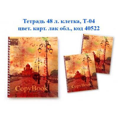 Тетрадь 48 л. клетка на гребне Т-04 48л. карт.лак, №1 Краснокамск