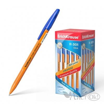 Ручка R-301 шариковая Orange синий стерж. 22187 (43194)/ ERICH KRAUSE /50 /0 /400 /0