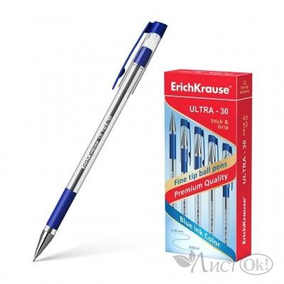 Ручка ULTRA L-30 шариковая синий стерж. 19613/ ERICH KRAUSE /12 /0 /144 /0