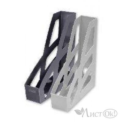 Лоток для бумаг вертикальный ЛИДЕР черный ЛТ122 Стамм