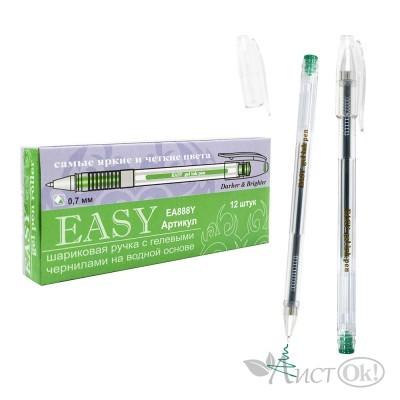 Ручка гелевая , 0,7*139мм (аналог Crown Pilot) 888 EASY т.зелёная