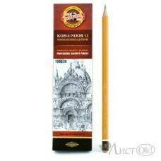 Карандаш KOH-I-NOOR 1500, 2В цена за 1 шт.