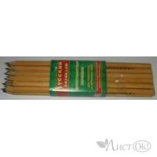 Карандаш Русский карандаш, ч/гр. СК115/Т шестигран.,натур.цвет Томск