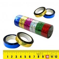 Клейкая лента голография 1.2СМх20М, цвет ассорти, пвх 7869 J.Otten