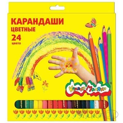 Карандаши цветные 24цв, короб./ ККМ24 Каляка-Маляка
