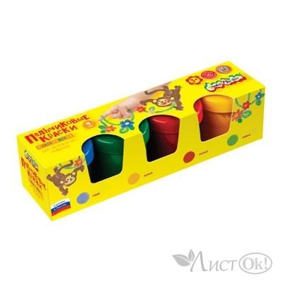 Краски пальчиковые  4цв. 3+ ПККМ04 Каляка-Маляка