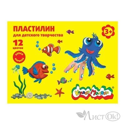 Пластилин 12цв. 180 гр. ПКМ12-П Каляка-Маляка