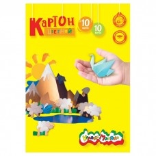 Картон цветной  А4 10л. 10цв. КЦКМ10 Каляка-Маляка