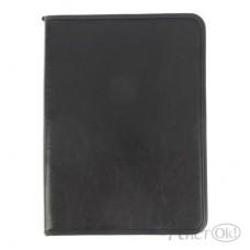 Папка деловая А4 кожзам 6Д03 Люкс, черная /Канцбург